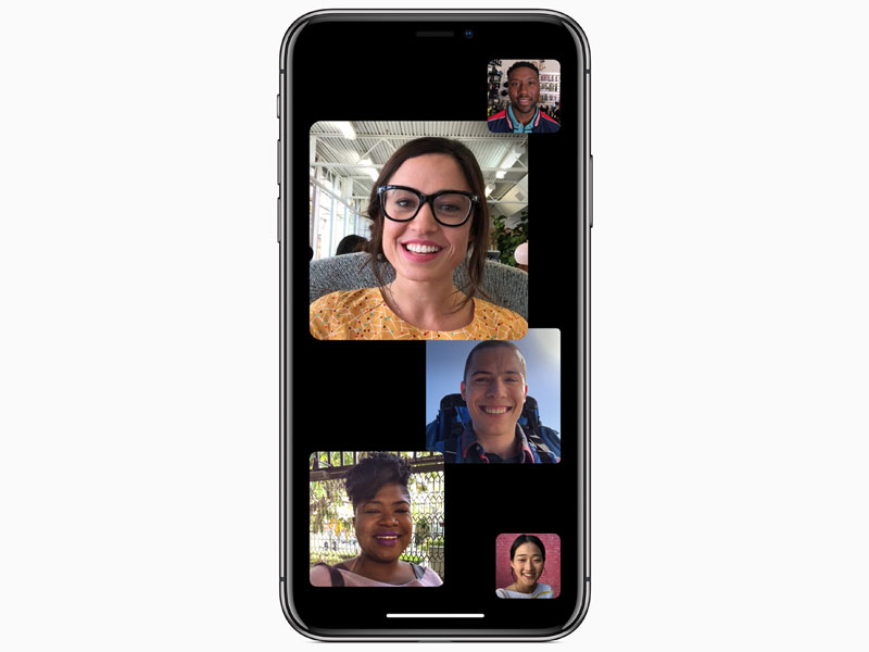 Apple IOS 12 group facetime