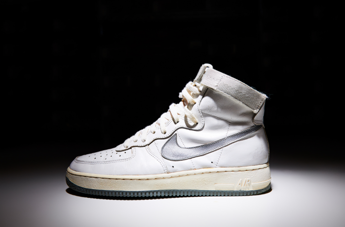 """The original Nike Air Force 1 from 1982 in """"White/Neutral Gray,"""" Image via Nike"""
