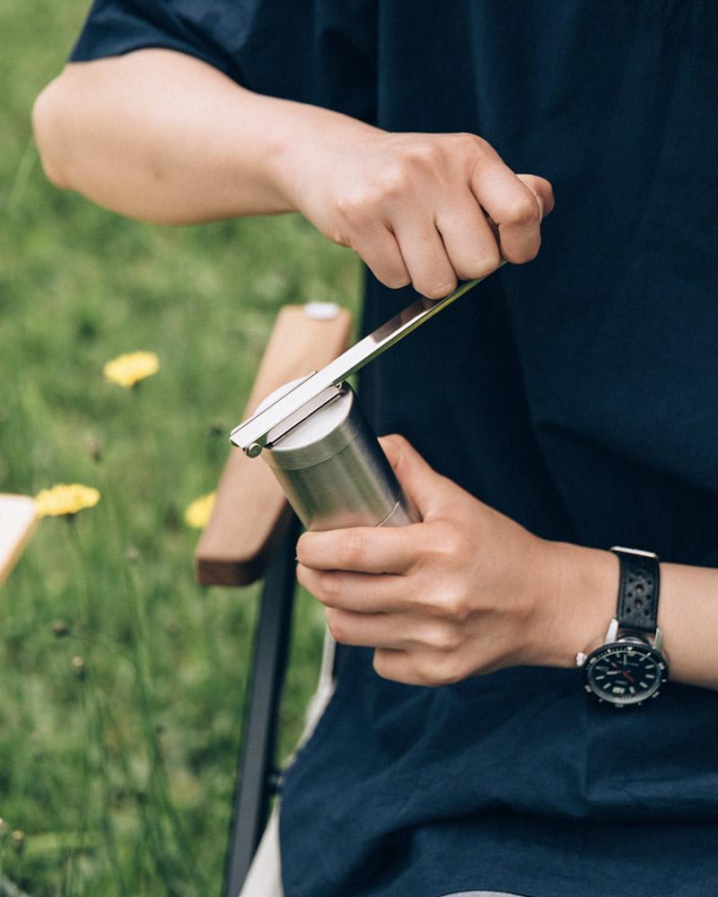 Hand held coffee grinder