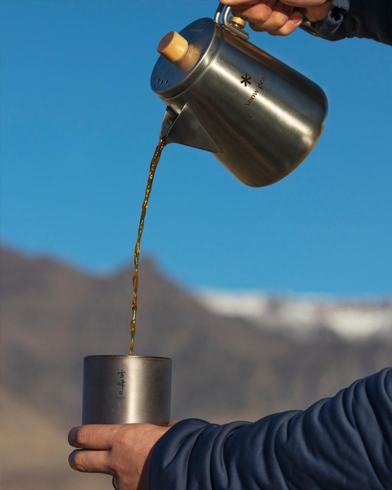 Kettle being poured