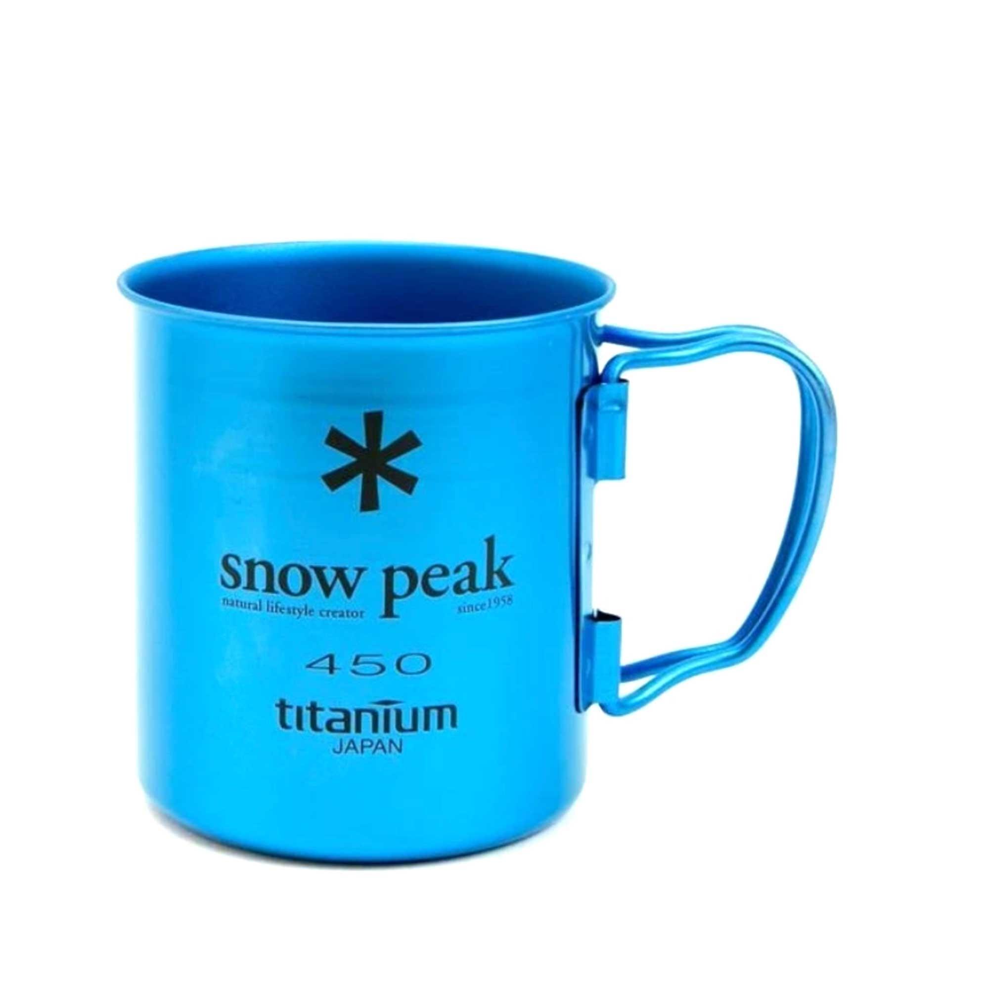 Snow Peak Titanium Mug Blue
