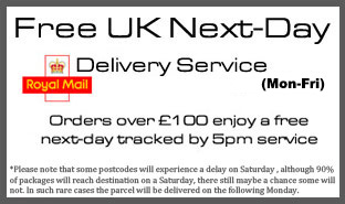 FREE Next Day Delivery Spend £100 or more and enjoy this service today. Please read Terms and Conditions