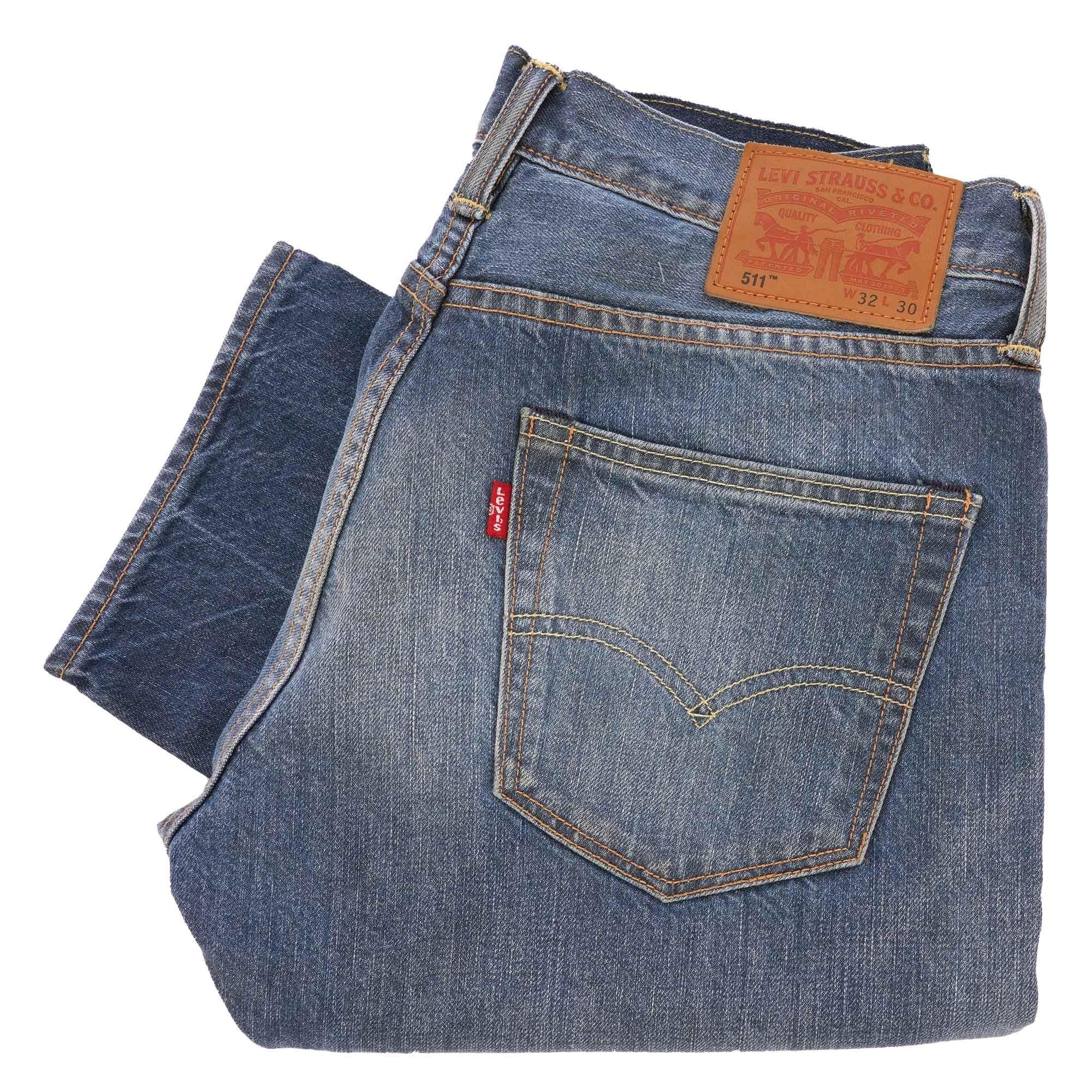 4ed4adeaa2 Levi's 511 Slim Fit Selvedge Jeans | Fender | 04511-2179