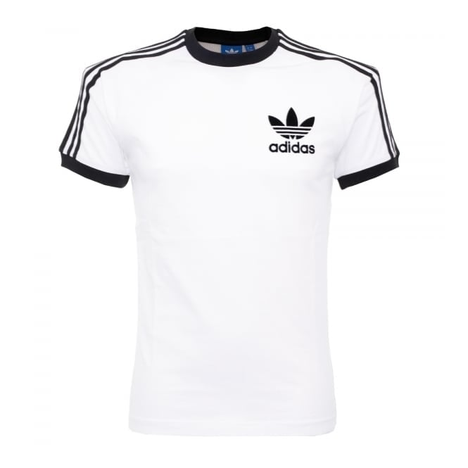 Adidas online store california white t shirt az812 for Adidas lotus t shirt
