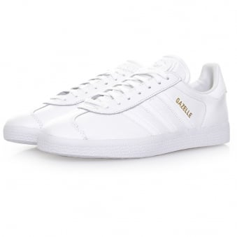 Adidas Originals Gazelle White Leather Shoes BB5498