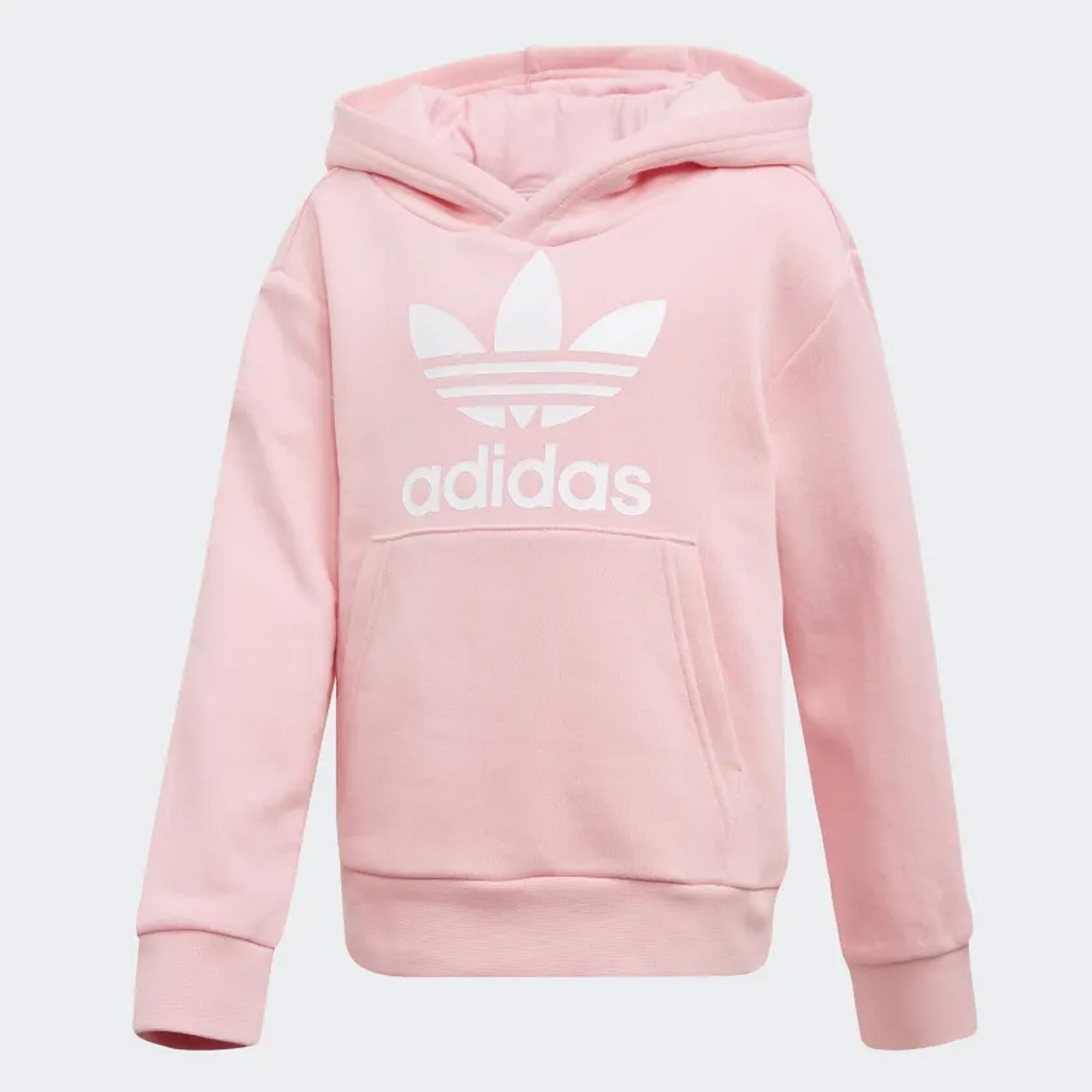 Trefoil Hoodie Set Light Pink & White