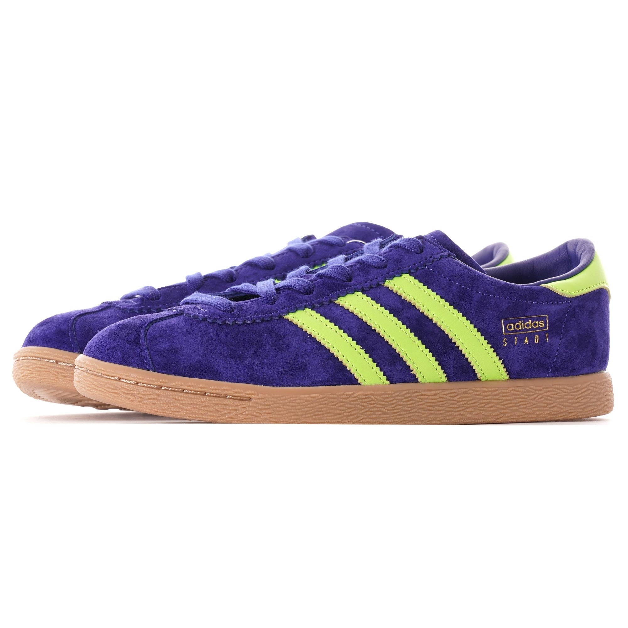 Adidas Men Gazelle (purple solar yellow gum)