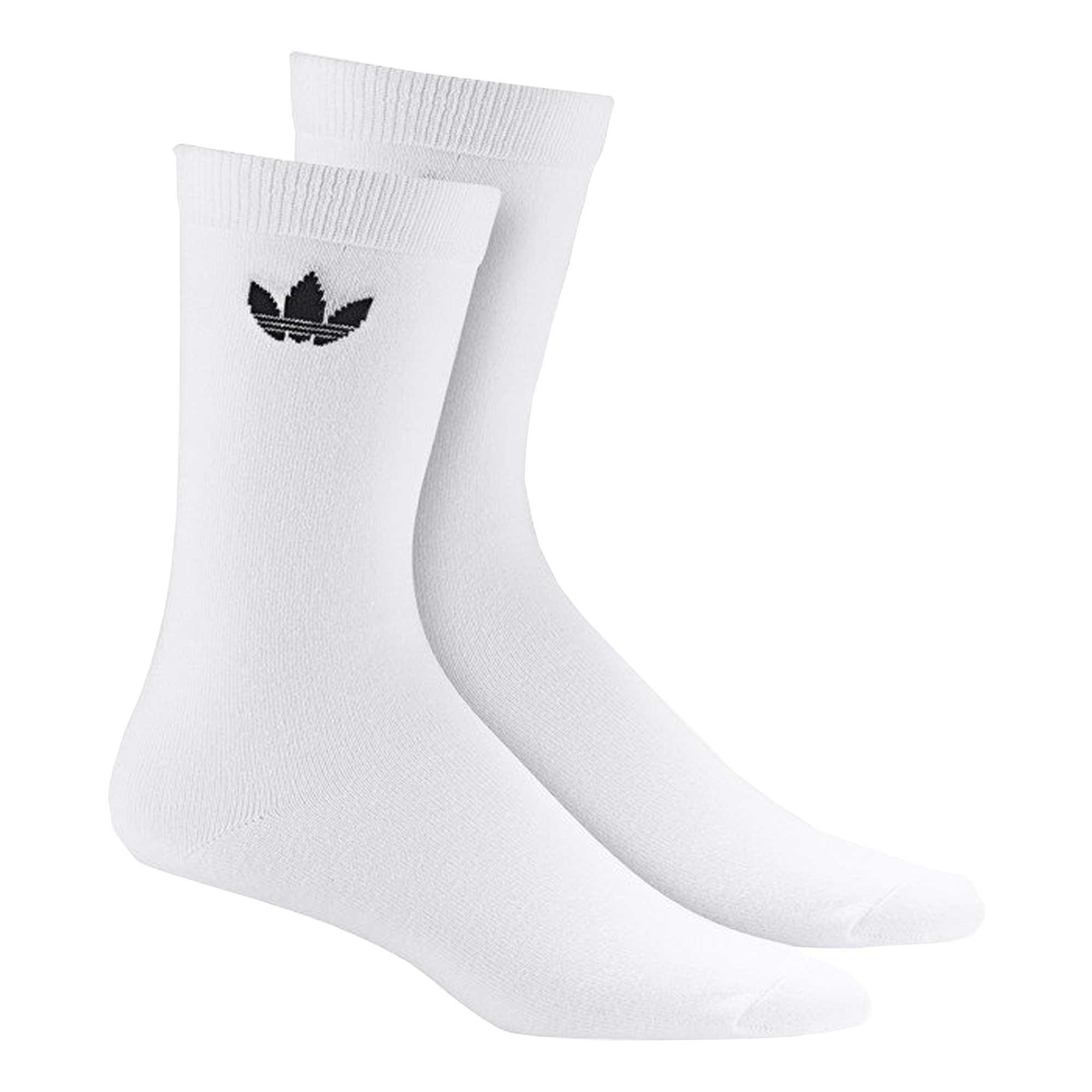 lana Acorazado mayor  adidas Originals Thin Trefoil Crew Socks 2 Pairs | White | DV1728-THN