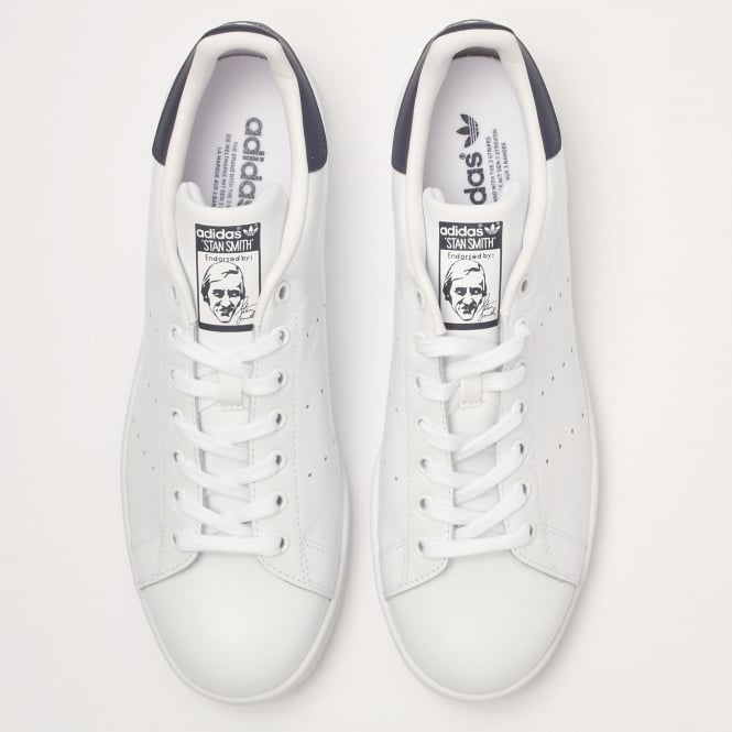 detailed look a2845 e818c White & Navy Stan Smiths Sneakers