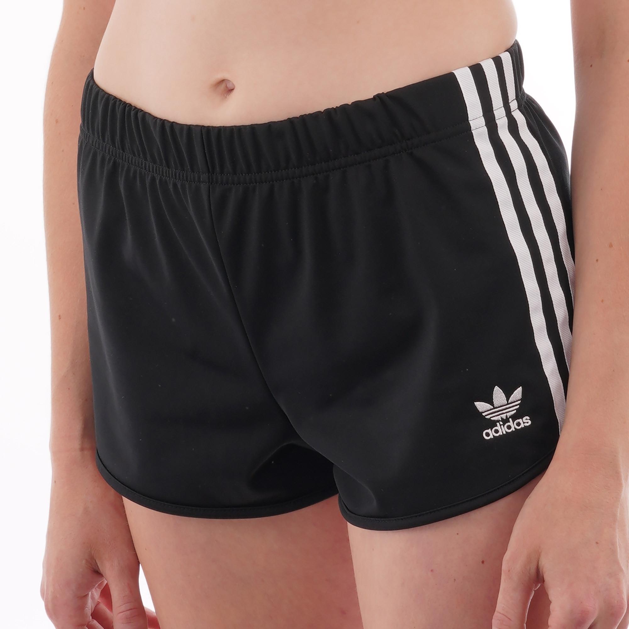 Adidas Womens Black - Stripe Shorts