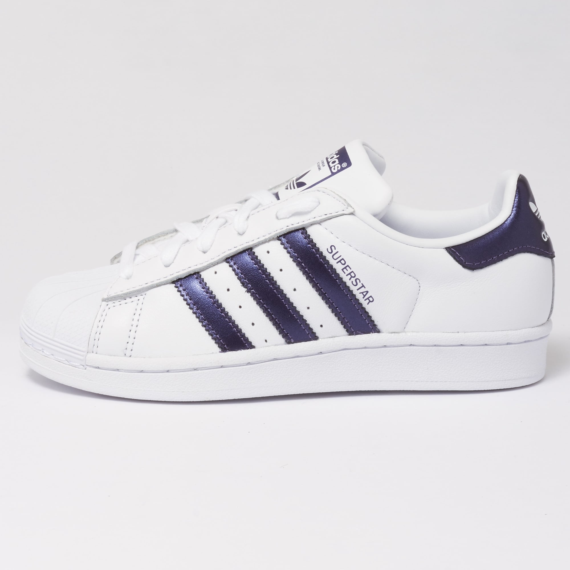 huge discount 6263f a9604 Superstar Trainers - FTWR White   Purple Knight Metallic