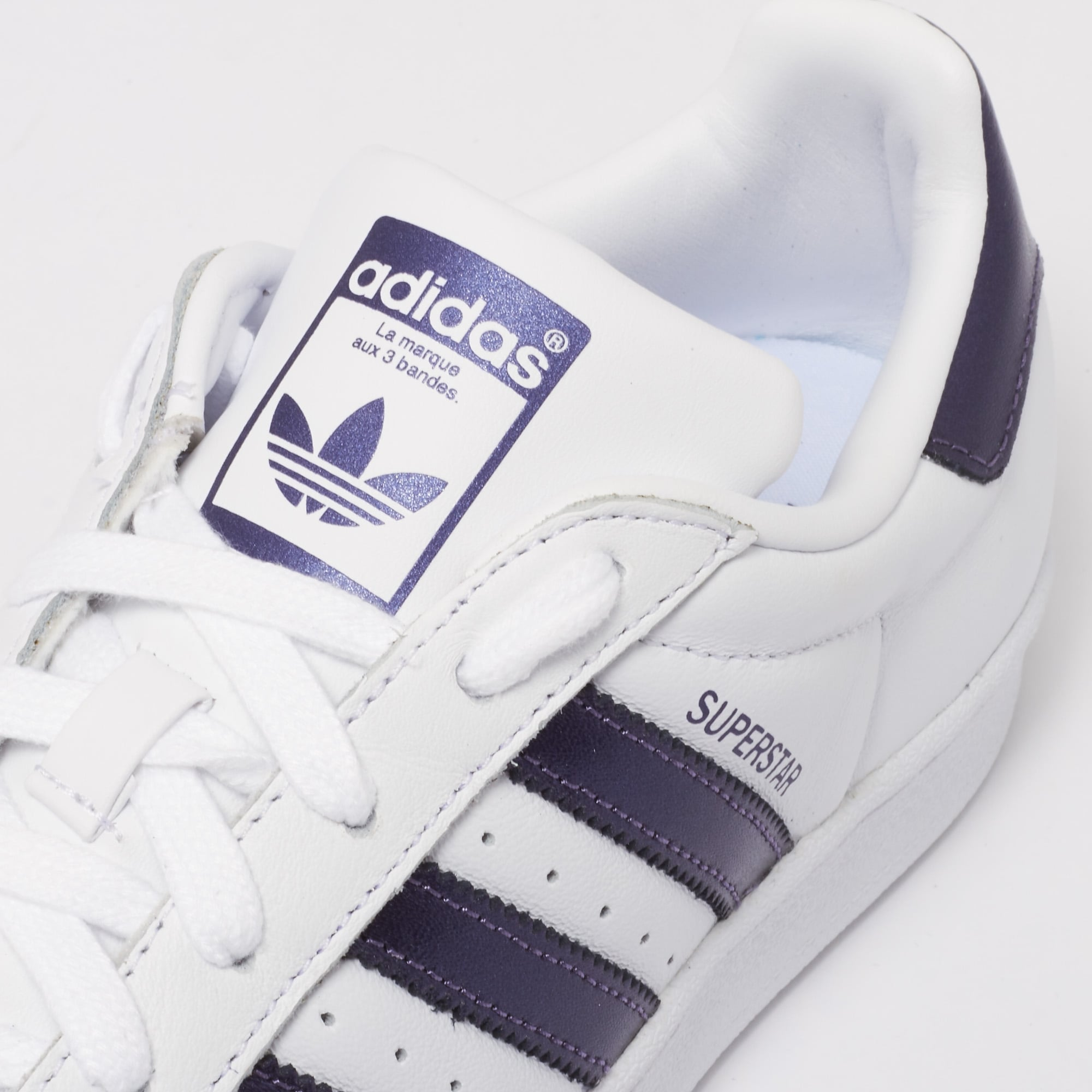 huge discount 6b691 a3a7a Superstar Trainers - FTWR White   Purple Knight Metallic