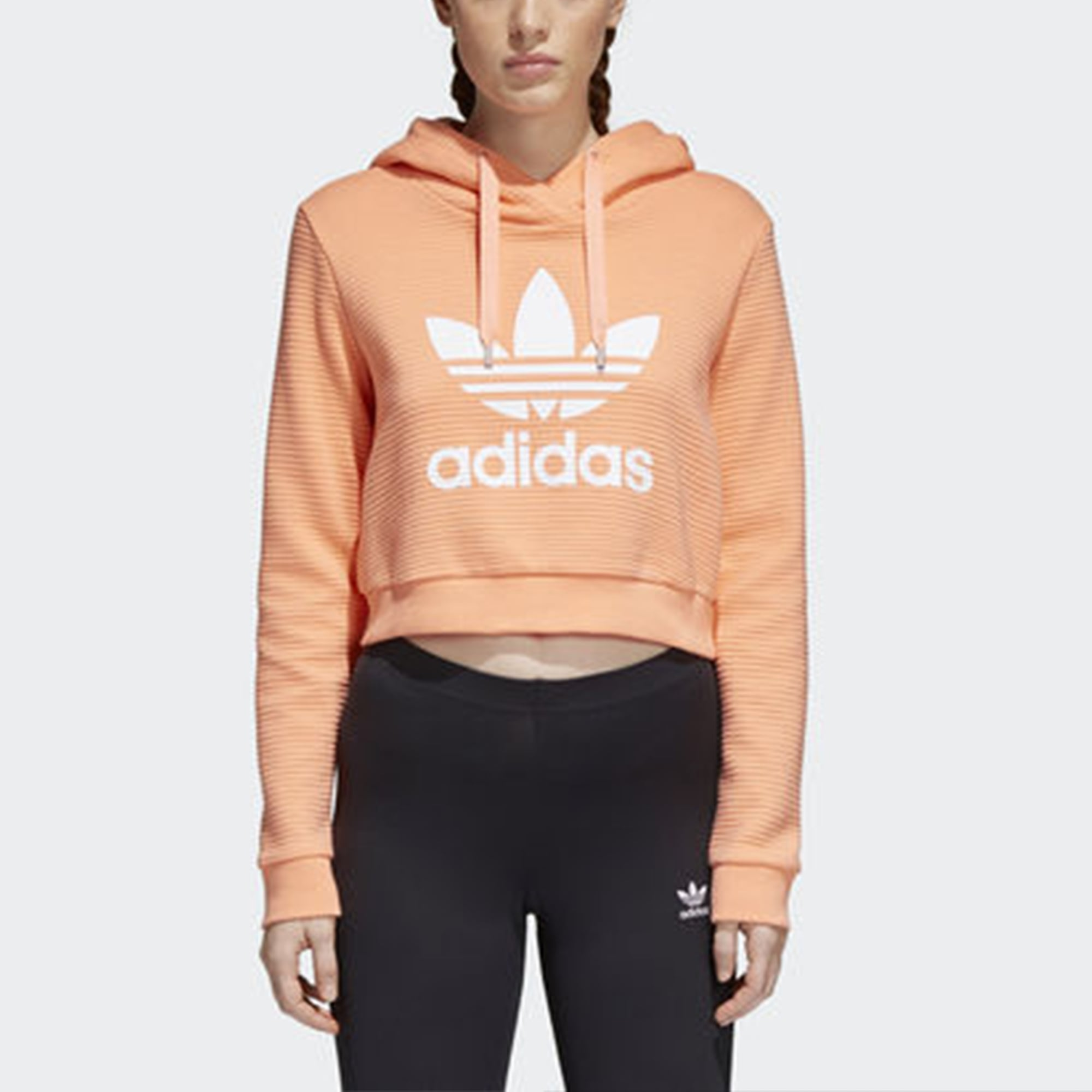 adidas Originals Cropped Hoodie With Trefoil Logo at