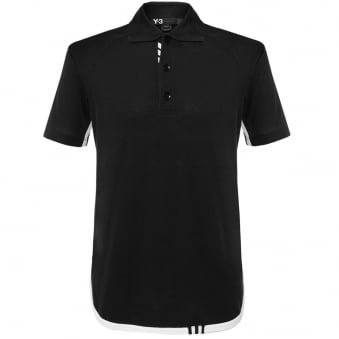 Adidas Y-3 M Lux Black Polo Shirt AP2479