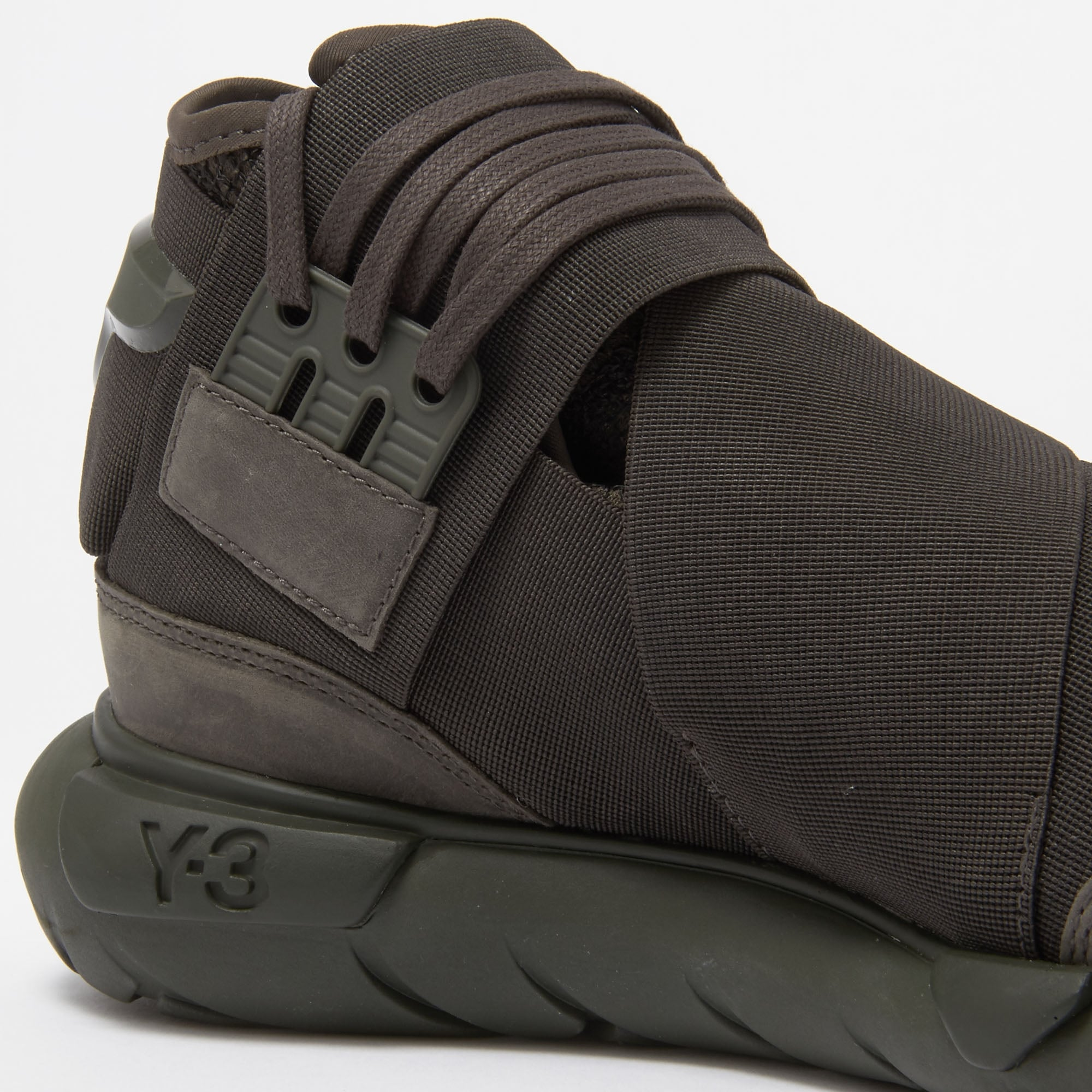 b414cb984 Adidas Y-3 Qasa High Black Olive Sneakers CG3194