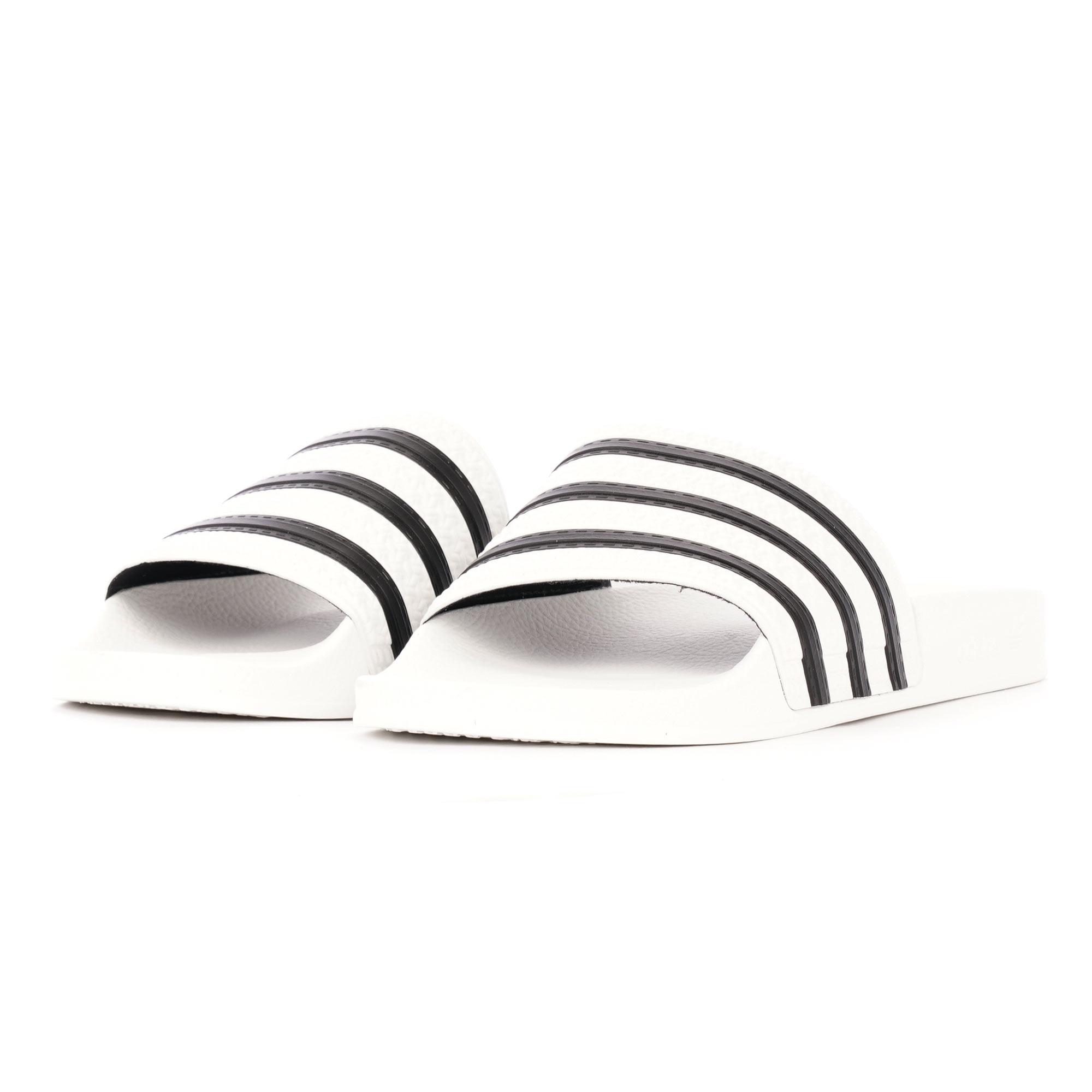 fe1d43e4b Adilette Slides - White  amp  Core Black