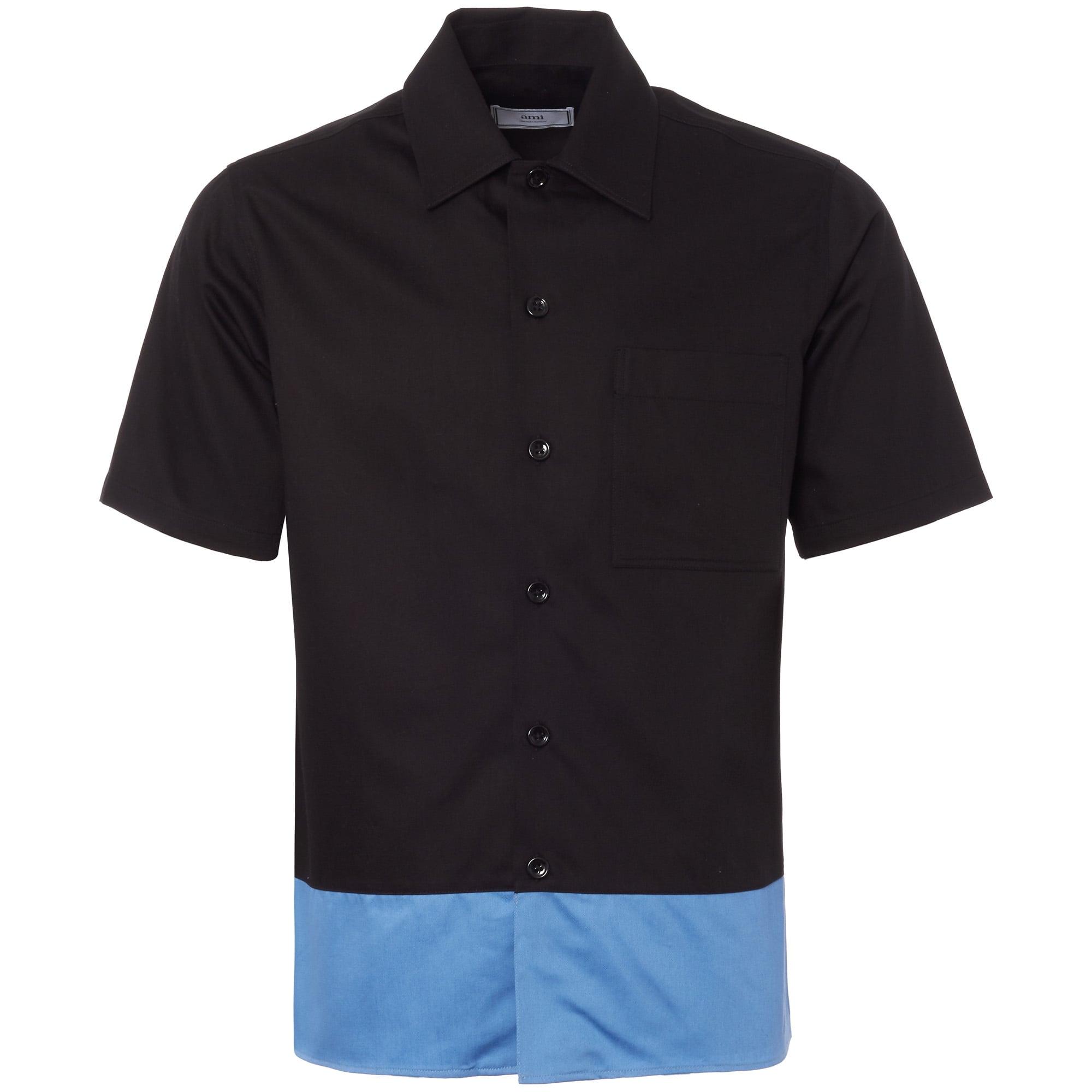 Black Contrast Short Sleeve Shirt