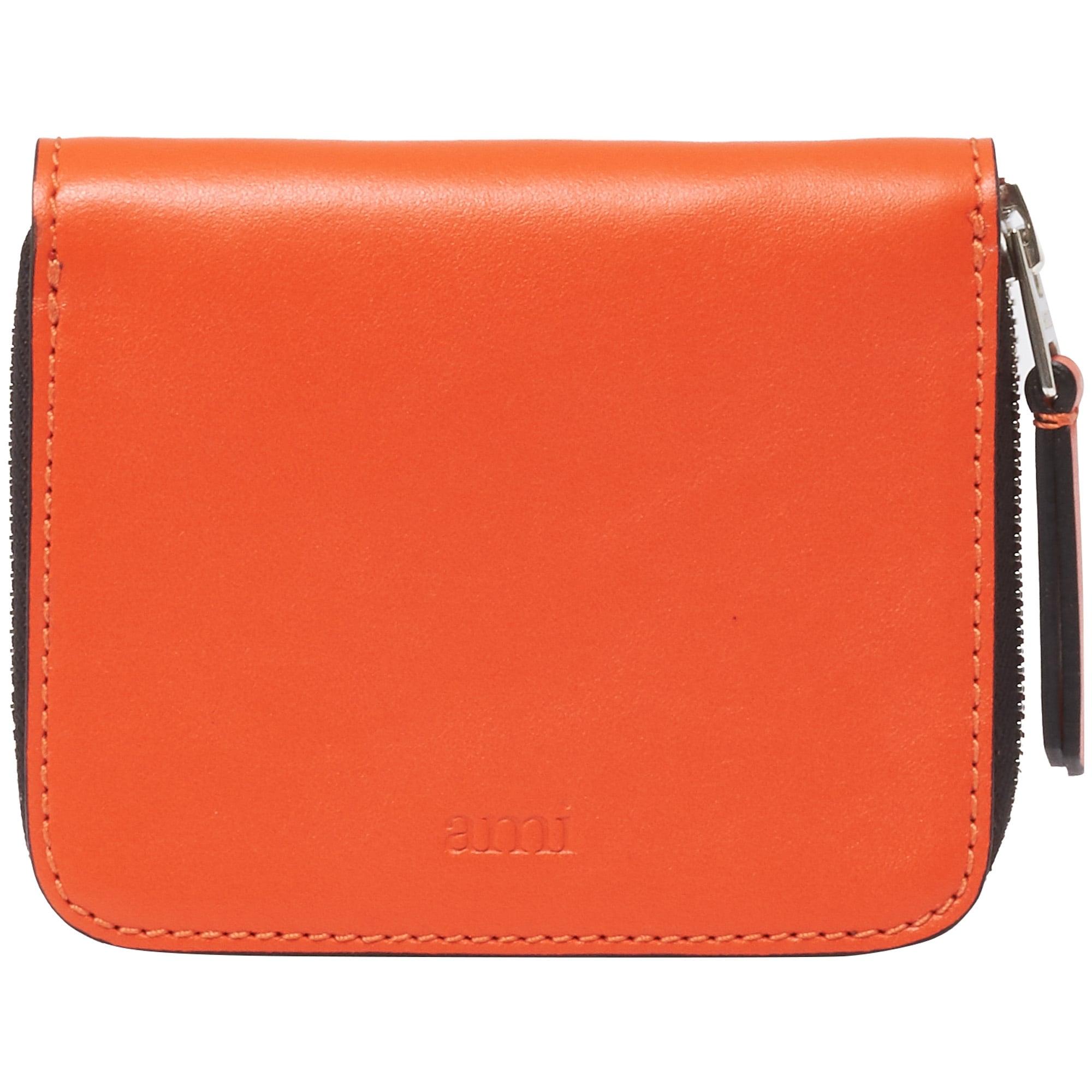 Orange Zipped Wallet