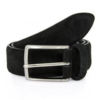 Anderson Suede Black Belt A1404