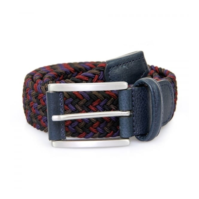 Anderson's Belts Anderson Woven Multi Purple Burgundy Braided Belt AF2949