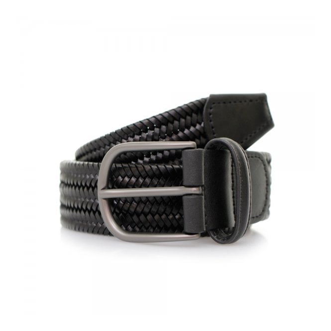 Anderson's Belts Anderson's Woven Black Braided Leather Belt A/2915 PI51