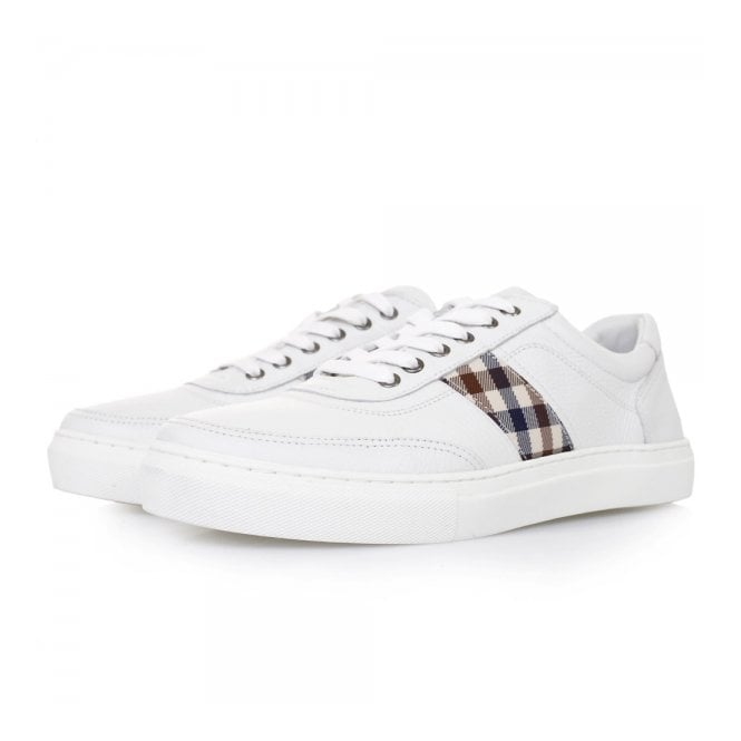 Aquascutum Bradley White Leather Shoes 021590100