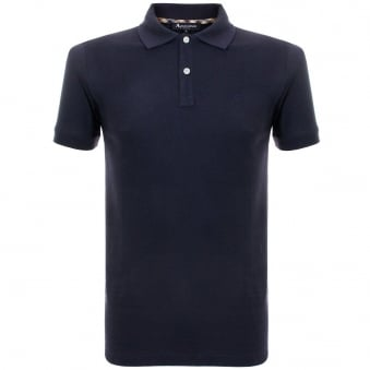 Aquascutum Hill Navy Polo Top