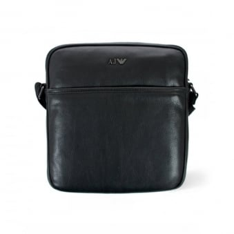 Armani Jeans Black Leather Bag 06228-12
