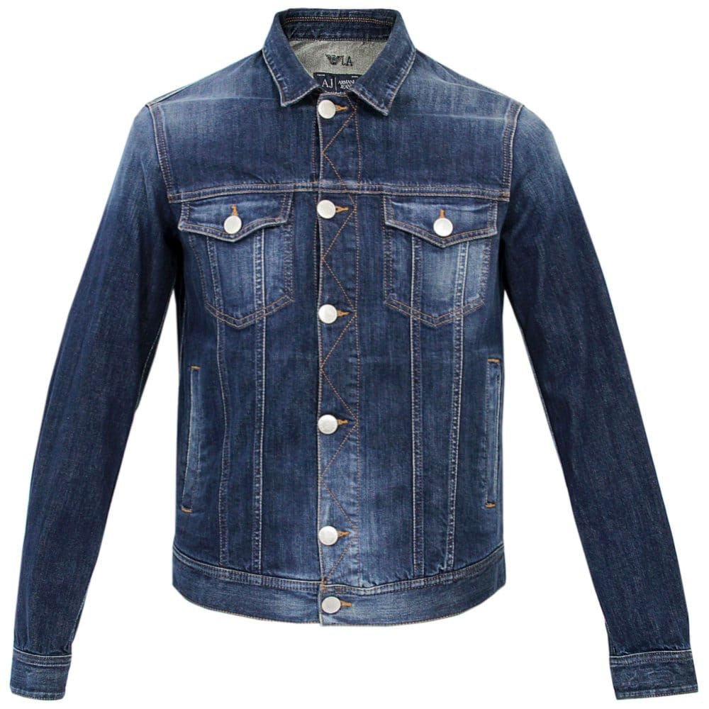 Armani Jeans Mens Jackets | Denim Navy Jacket - photo#26