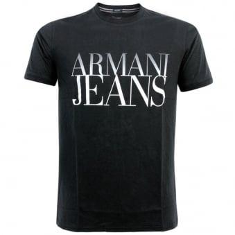 Armani Jeans Giro<br /> M/C Dark Navy T-shirt V6H935C