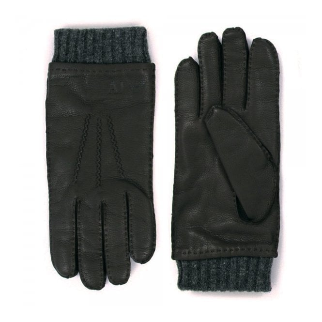 Armani Accessories Armani Jeans Nero Black Gloves Z6408-12