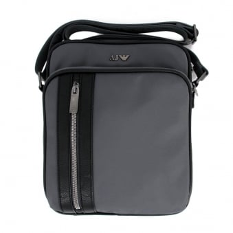 Armani Jeans Tablet<br /> Grey Shoulder Bag Z6242