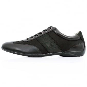 Armani<br /> Jeans V6534 Nero Black Plimsoll Shoe V6534 33