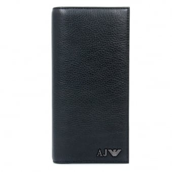 Armani Jeans Yen Black Leather Wallet 06V75