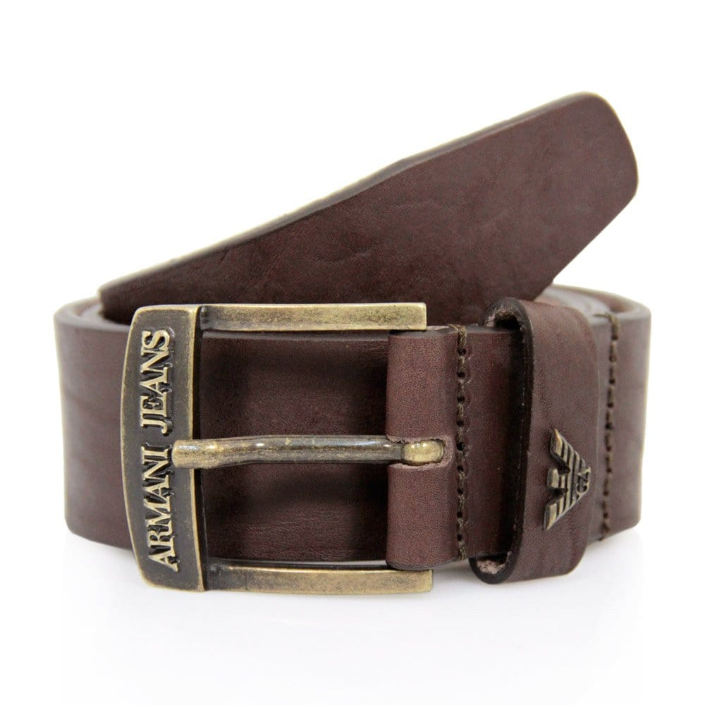 armani maroon leather belt v6109