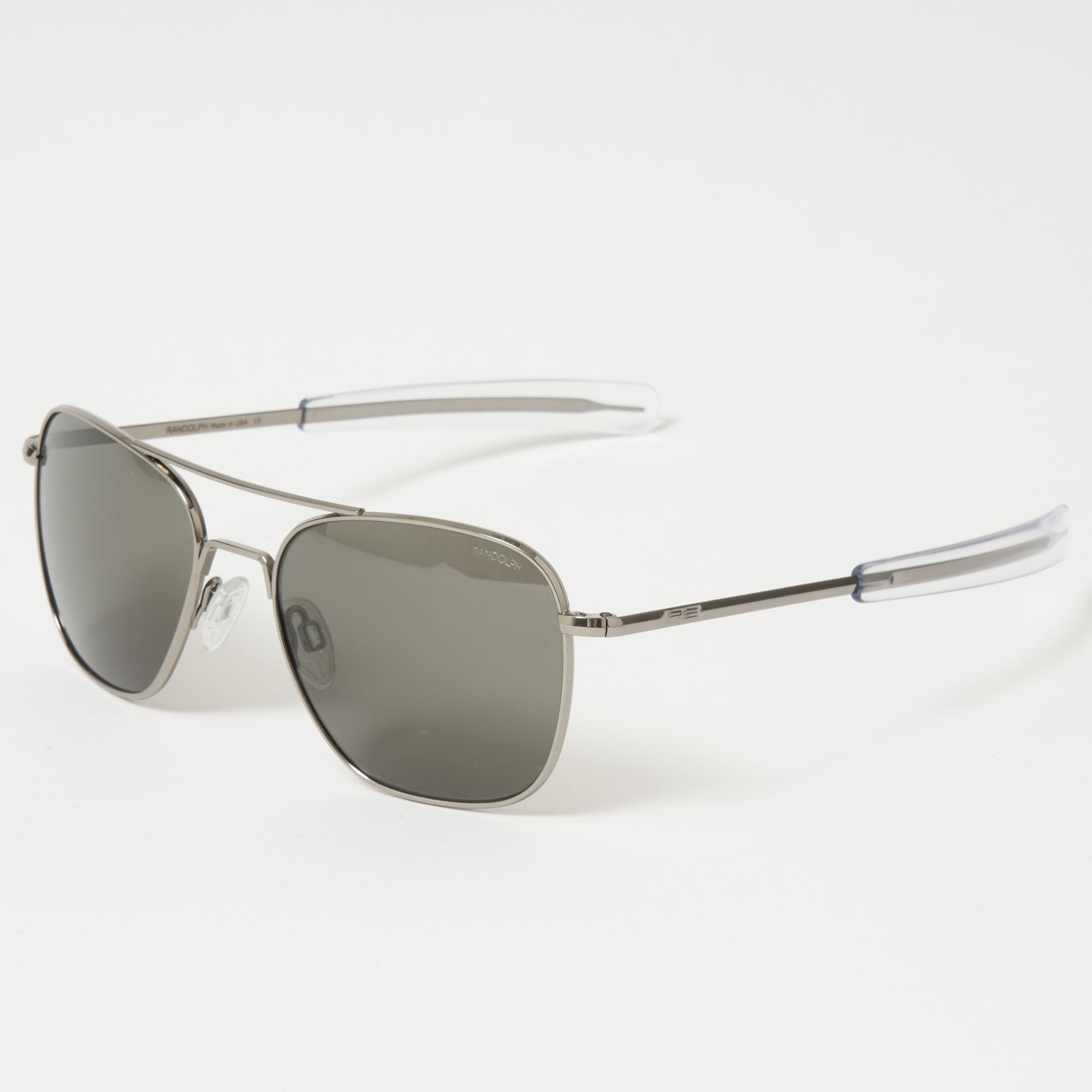 ffd3fc341734 Randolph Aviator Sunglasses | Gun Metal | AF145