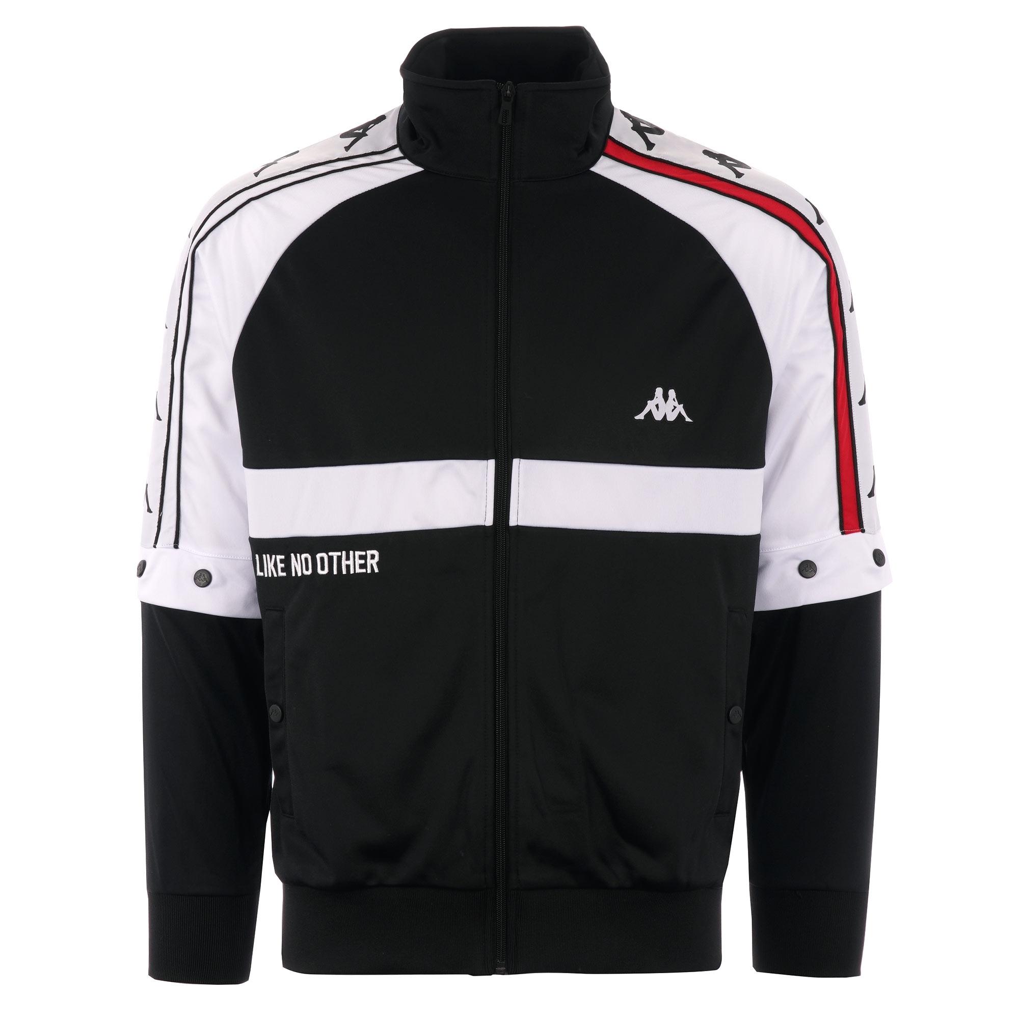 01259762e8 Kappa Bafer Authentic Jacket | Black, Red & White | 304IDF0