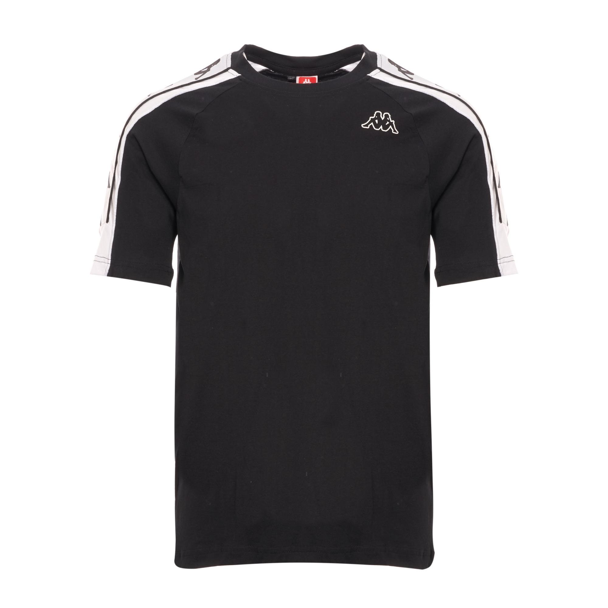 fbe93e79 Kappa Banda Taped T-Shirt   Black & White   304I050-903