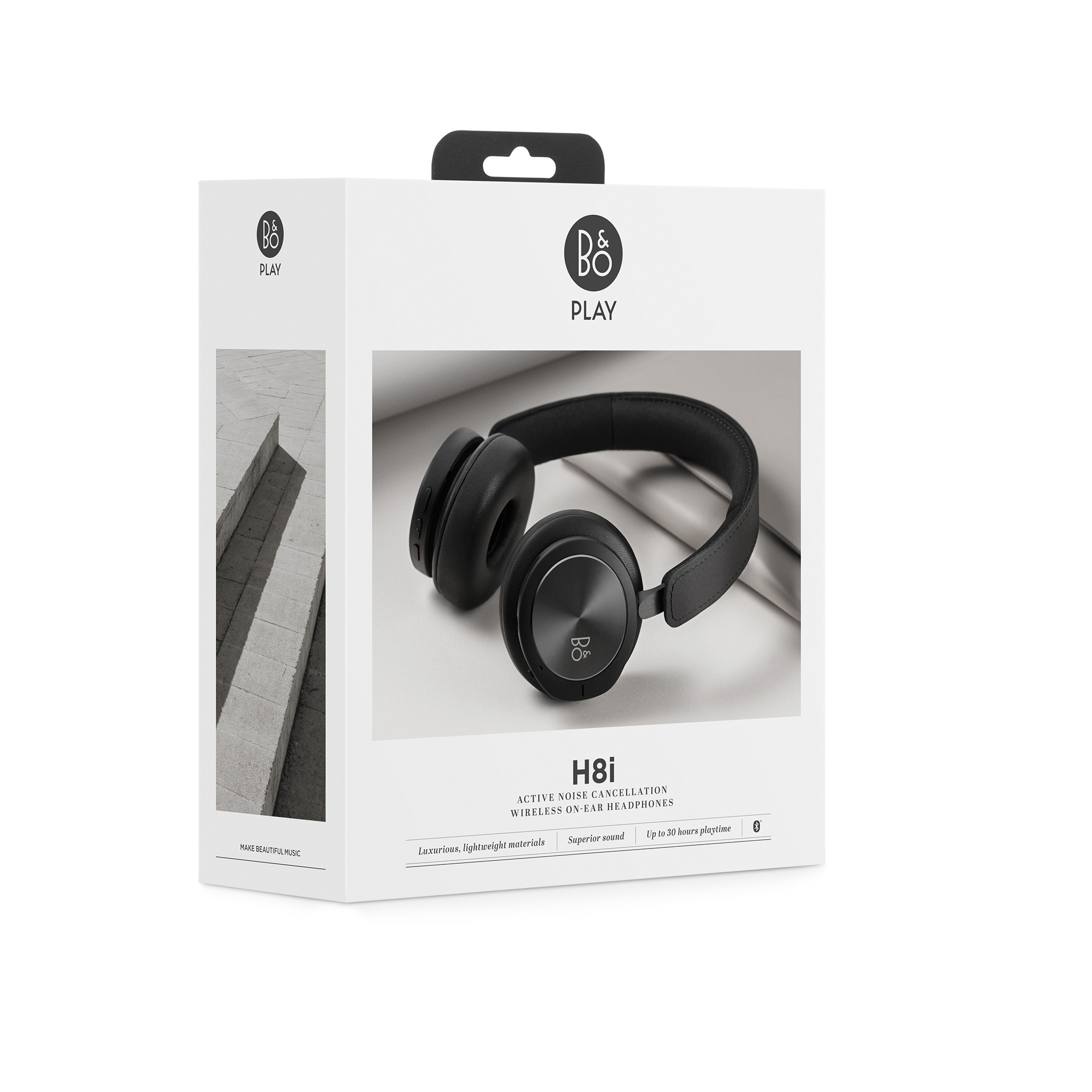 6b9ef7a03a1 H8i Active Noise Cancellation Wireless On-Ear Headphones - Black