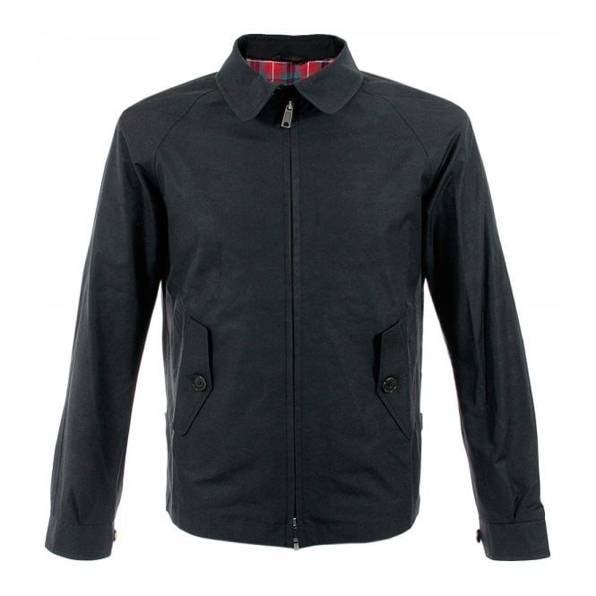 Baracuta G4 Shirt Collar Black Harrington Jacket BRCPS0090