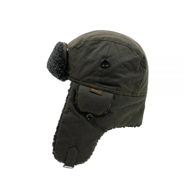 Barbour Fleece Lined Hunter Olive Hat Mha0033ol51