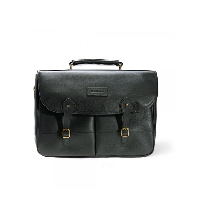 Barbour Accessories Barbour Leather Black Briefcase UBA0011BK11