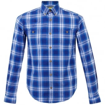 Barbour Steve Mcqueen Britt Blue Check Shirt MSH3348BL51