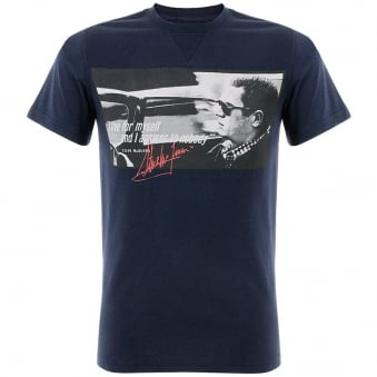 Barbour Steve McQueen Nobody Navy T-Shirt MTS0074NY91