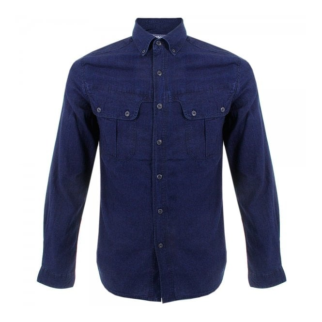 328684286f0f Barbour X White Mountaineering Peak Indigo Shirt MSH3517IN32