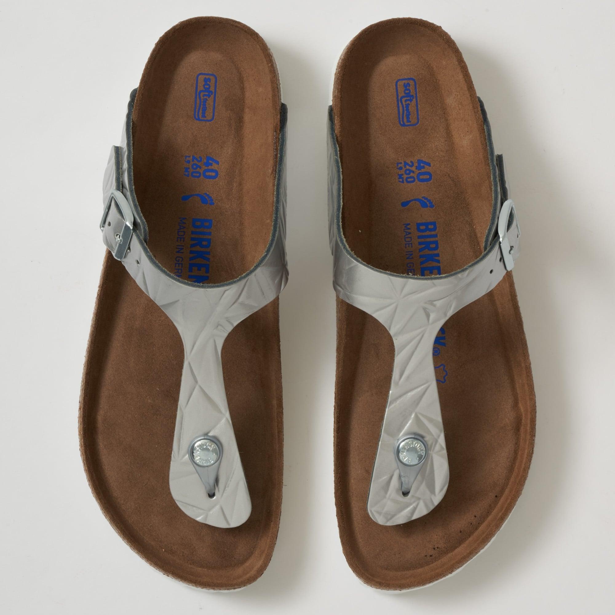 a9b921787 Birkenstock Gizeh Sandals Silver 1008464