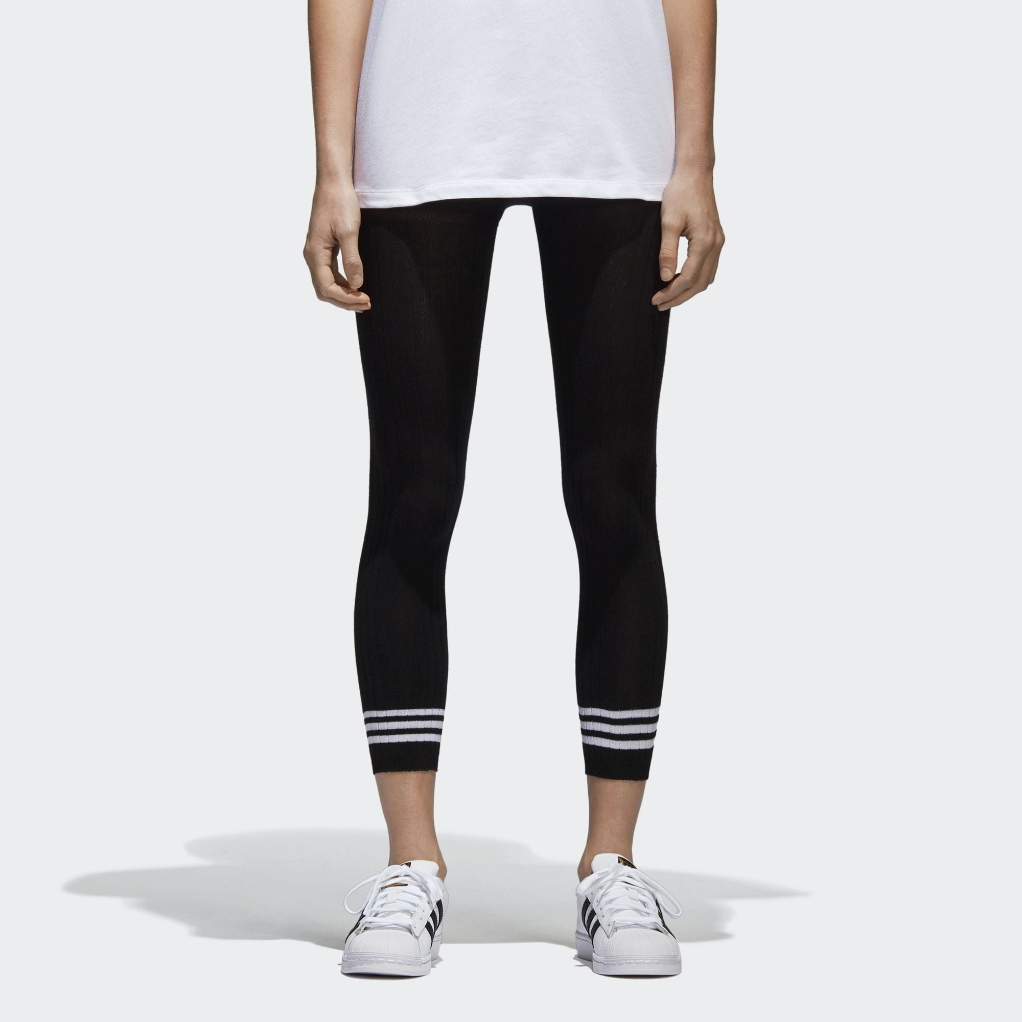 e62cc30dbbfe3e Adidas Originals Womens Black 3-Stripes Tights | BR9623