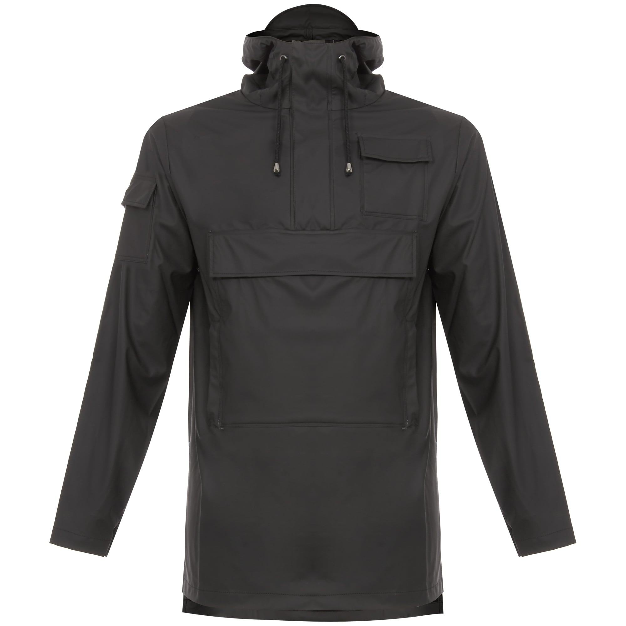 785d4d456 Rains Camp Anorak Black -1242-01