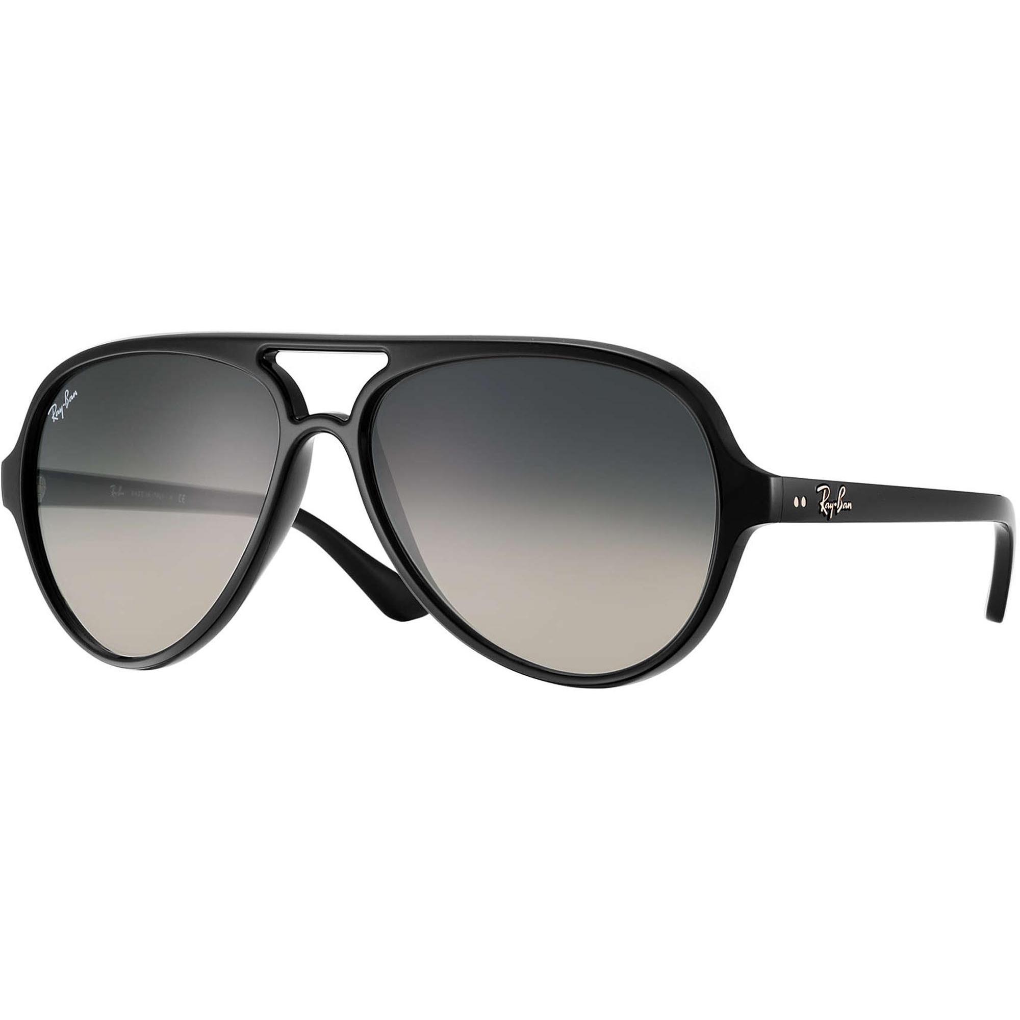 7454e4168b9 Ray Ban Sunglasses Cats 5000 Black Crystal Sunglasses RB4125 601 32