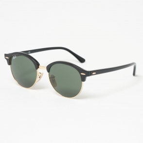 0f7aee7434 Black Classic Clubmaster Sunglasses - Classic G15 lenses. Ray Ban ...